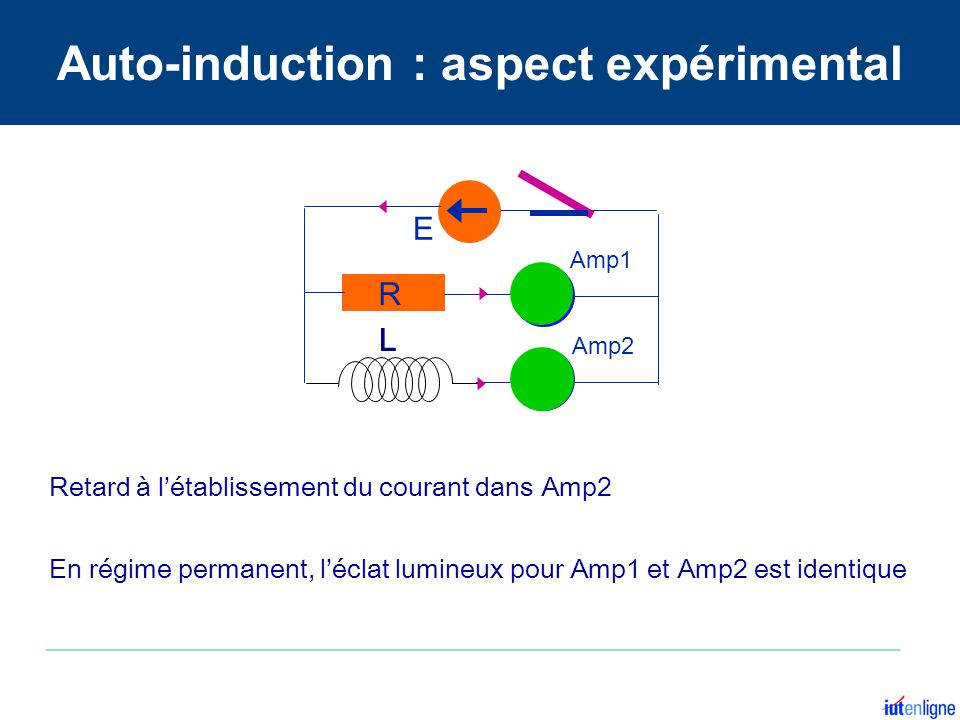 Auto-induction : aspect expérimental