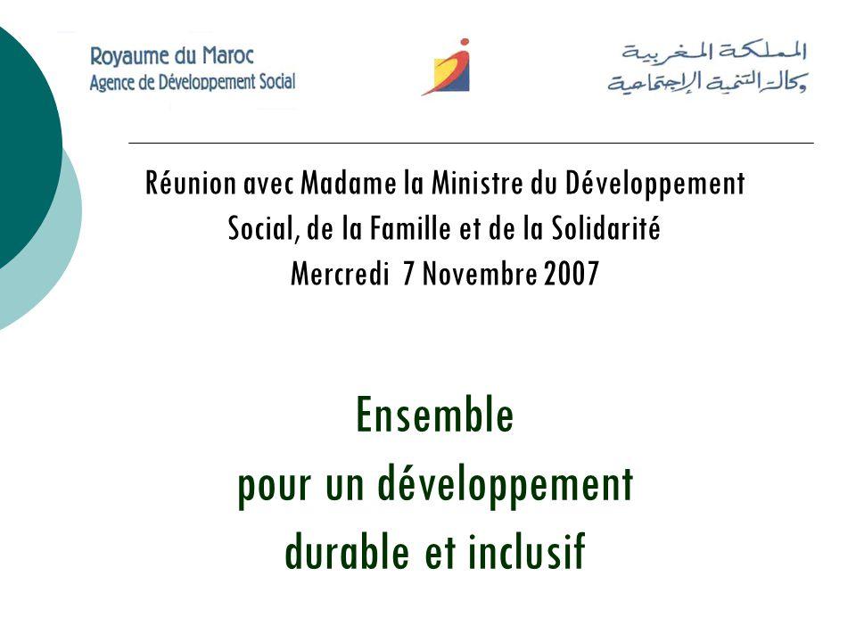 Ensemble pour un développement durable et inclusif