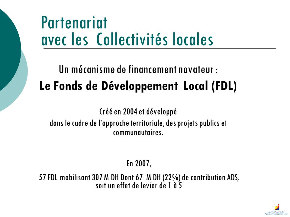 Le Fonds de Développement Local (FDL)