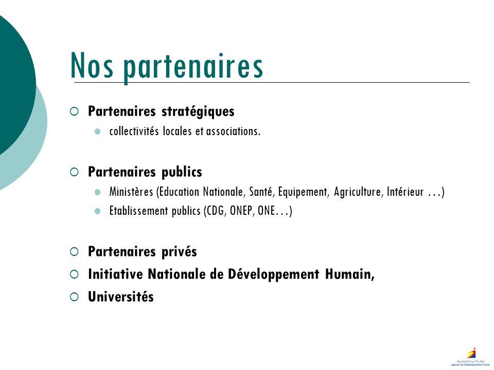 Nos partenaires Partenaires stratégiques Partenaires publics