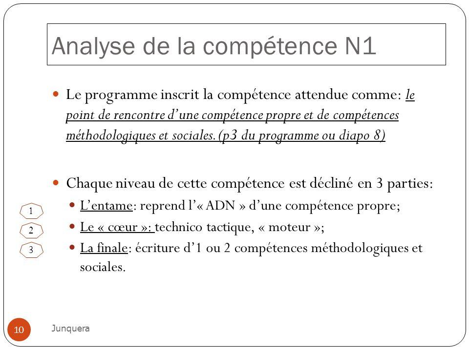 Analyse de la compétence N1
