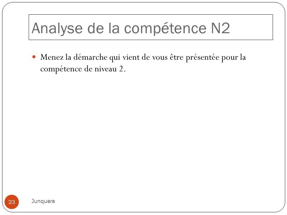 Analyse de la compétence N2