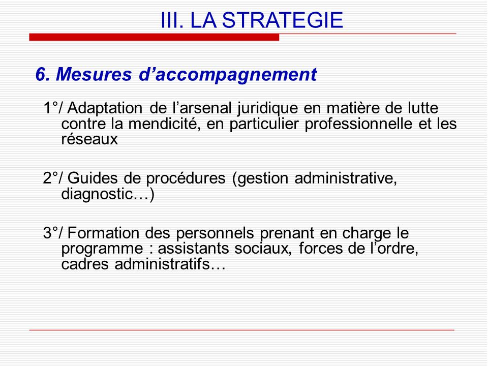 6. Mesures d'accompagnement