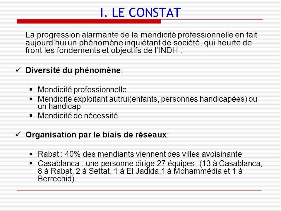 I. LE CONSTAT