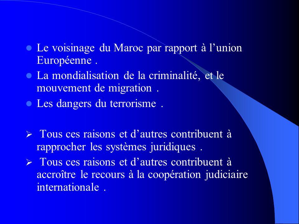 Le voisinage du Maroc par rapport à l'union Européenne .
