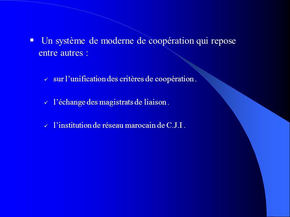 Un système de moderne de coopération qui repose entre autres :