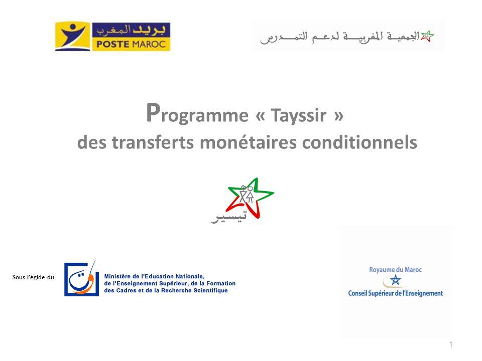 Programme « Tayssir » des transferts monétaires conditionnels