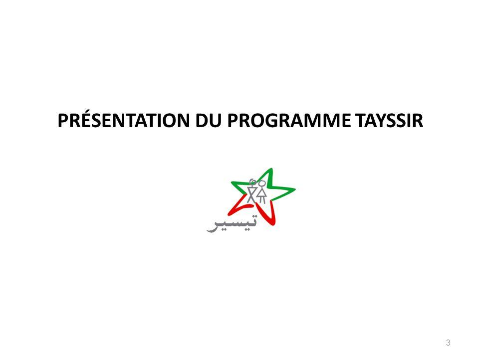 Présentation du programme Tayssir