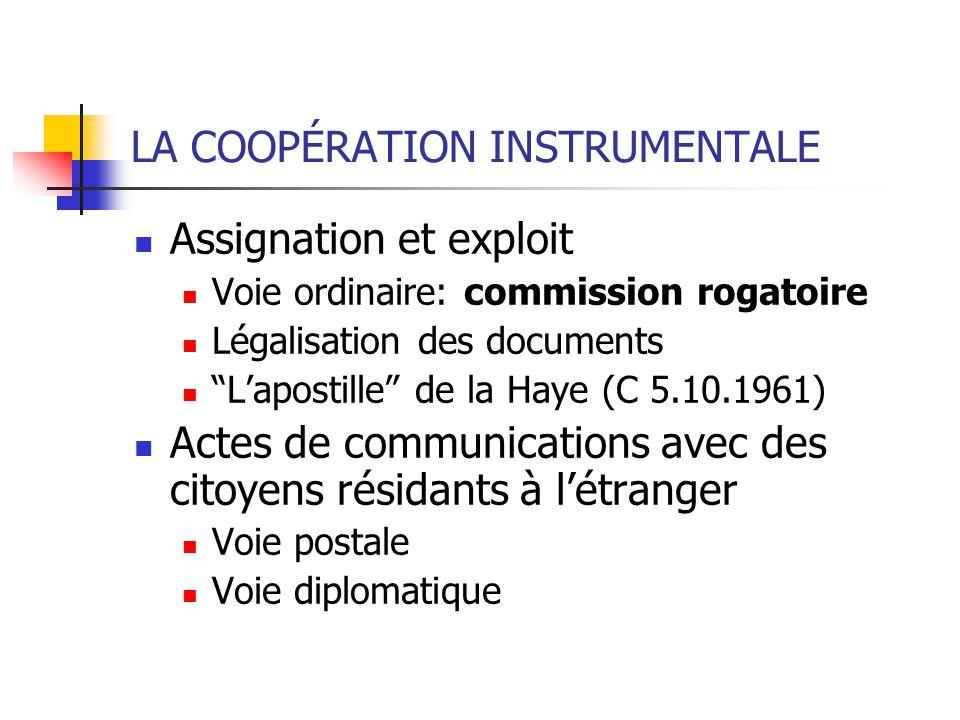 LA COOPÉRATION INSTRUMENTALE