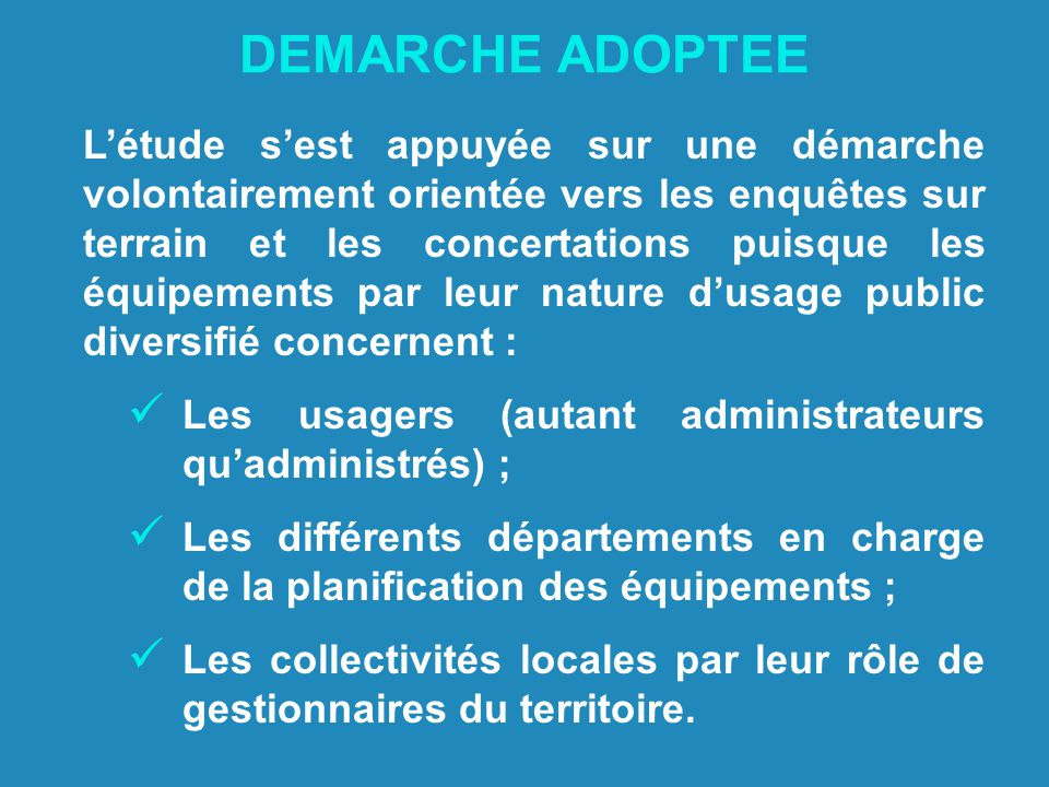 DEMARCHE ADOPTEE