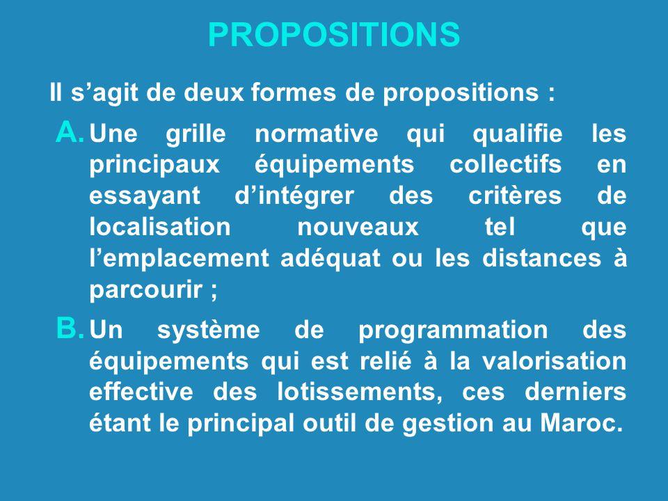 PROPOSITIONS Il s'agit de deux formes de propositions :