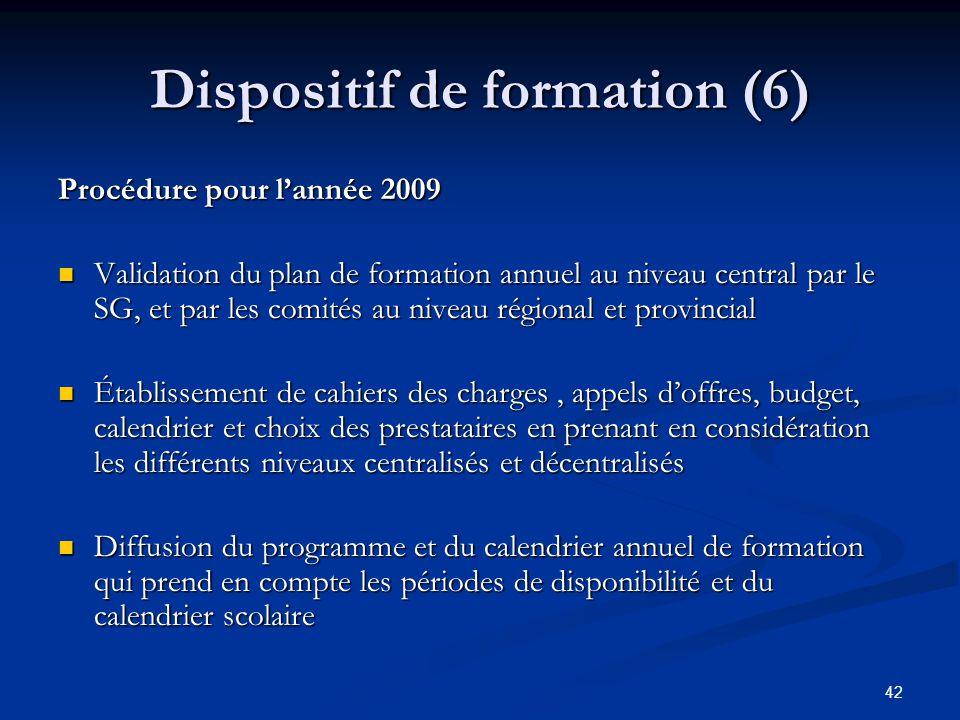 Dispositif de formation (6)