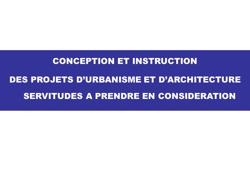 CONCEPTION ET INSTRUCTION