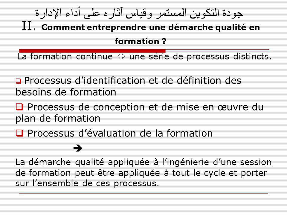 La formation continue  une série de processus distincts.