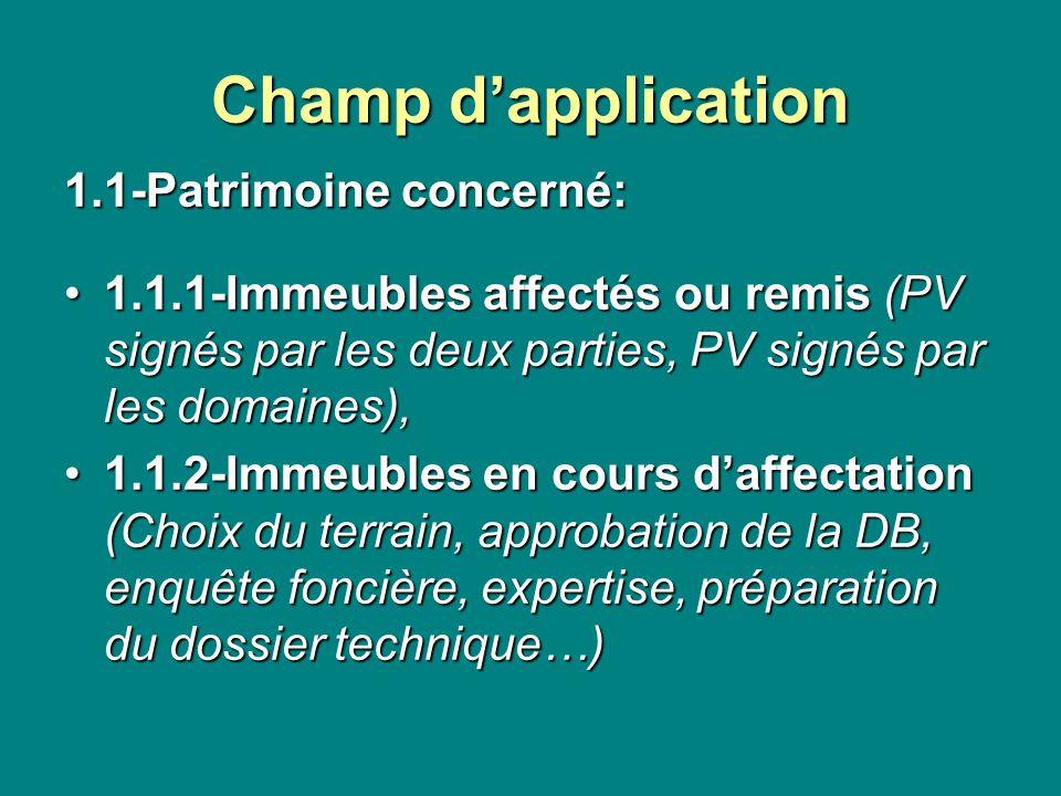 Champ d'application 1.1-Patrimoine concerné: