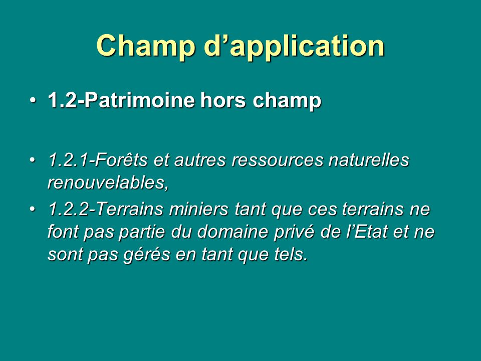 Champ d'application 1.2-Patrimoine hors champ