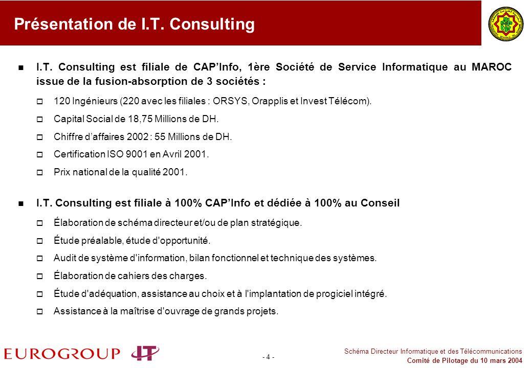 Présentation de I.T. Consulting
