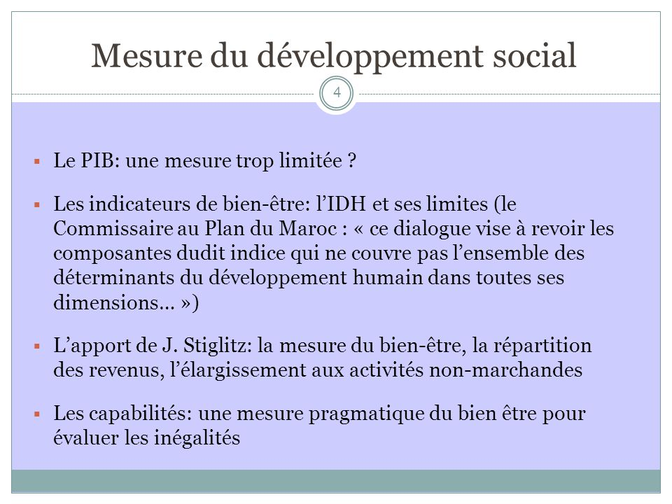 Mesure du développement social