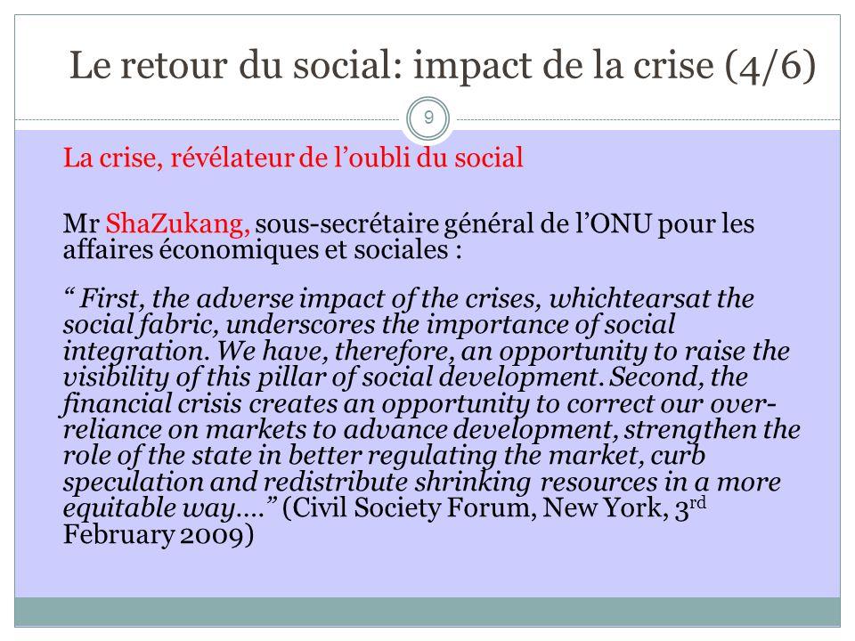 Le retour du social: impact de la crise (4/6)