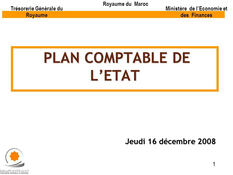 PLAN COMPTABLE DE L'ETAT