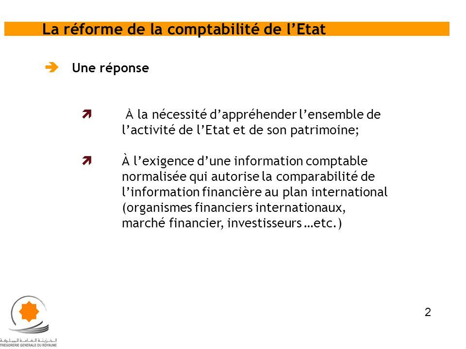 La réforme de la comptabilité de l'Etat