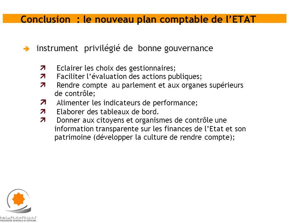 Conclusion : le nouveau plan comptable de l'ETAT