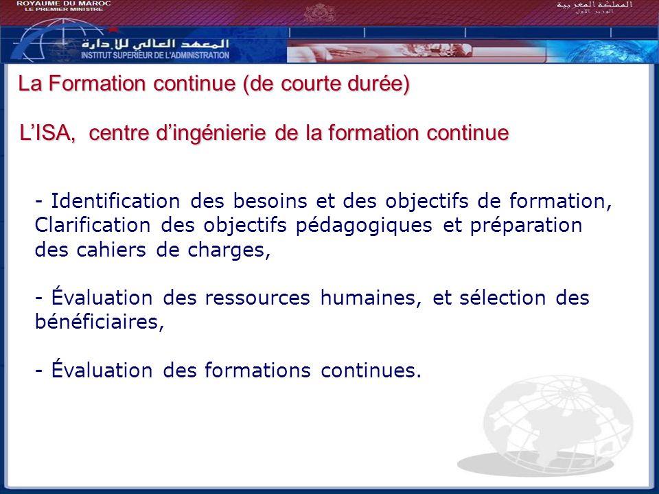 Bilan - Perspectives La Formation continue (de courte durée)
