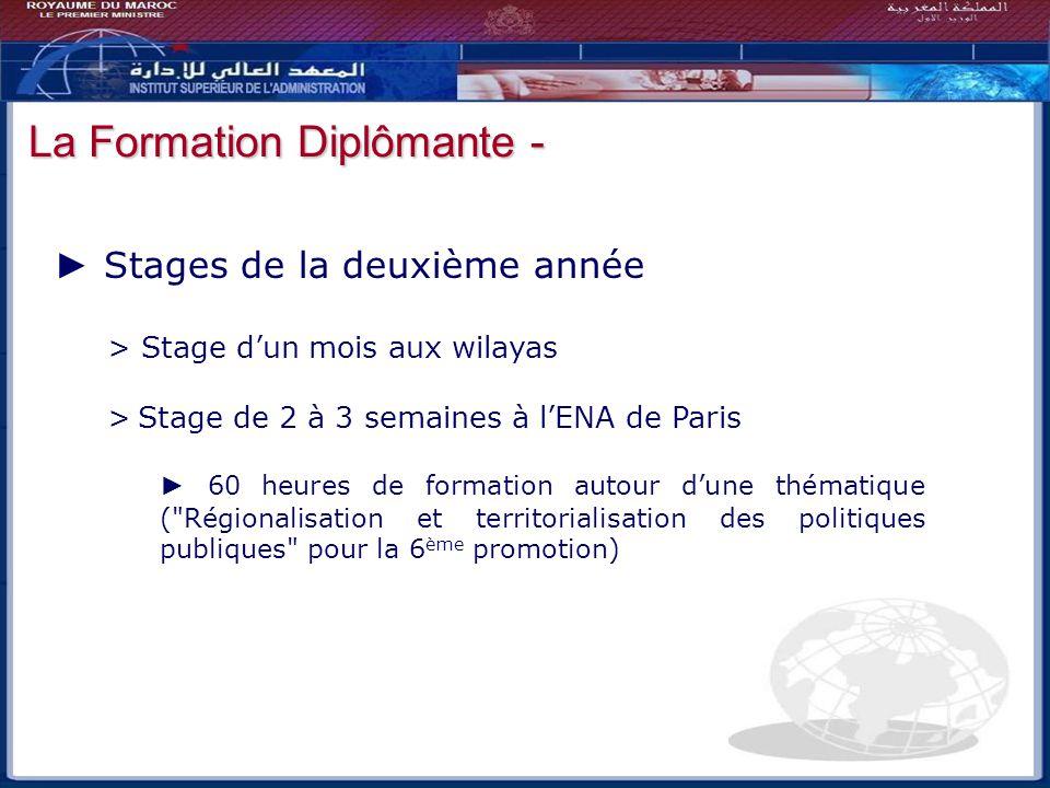 Bilan - Perspectives La Formation Diplômante -