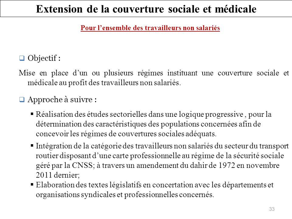 Extension de la couverture sociale et médicale