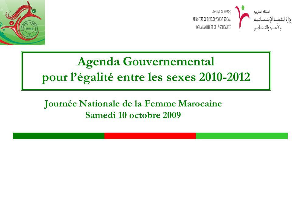 Agenda Gouvernemental pour l'égalité entre les sexes 2010-2012
