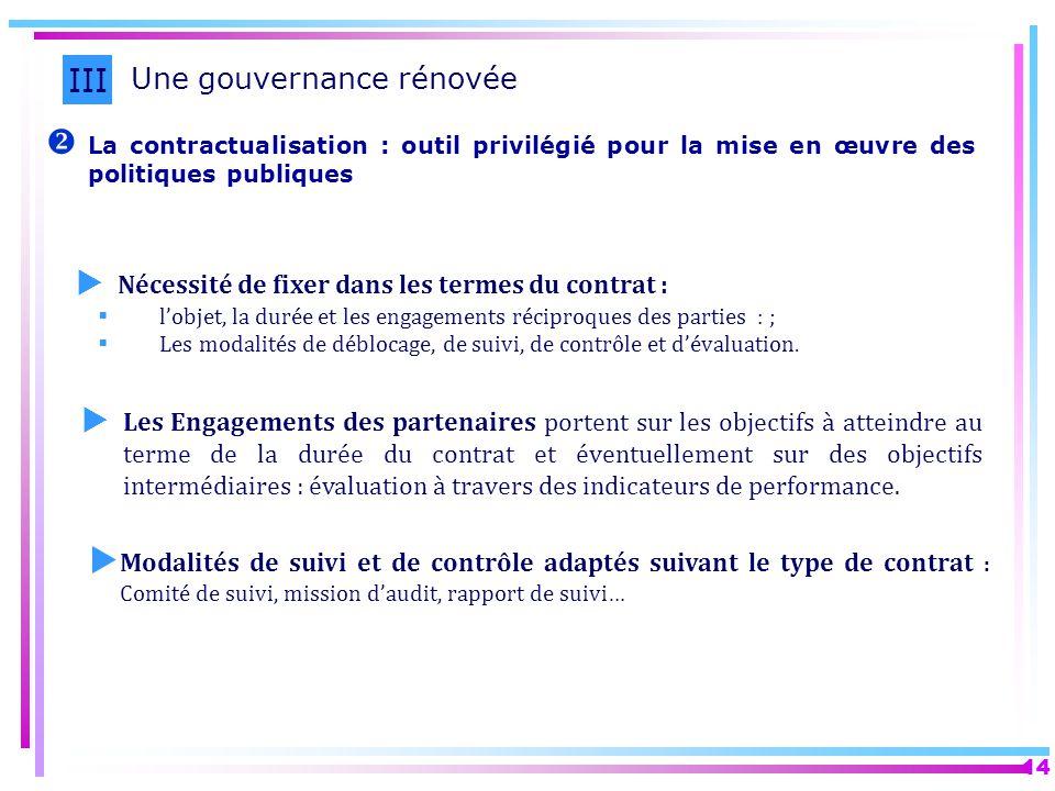 III Une gouvernance rénovée