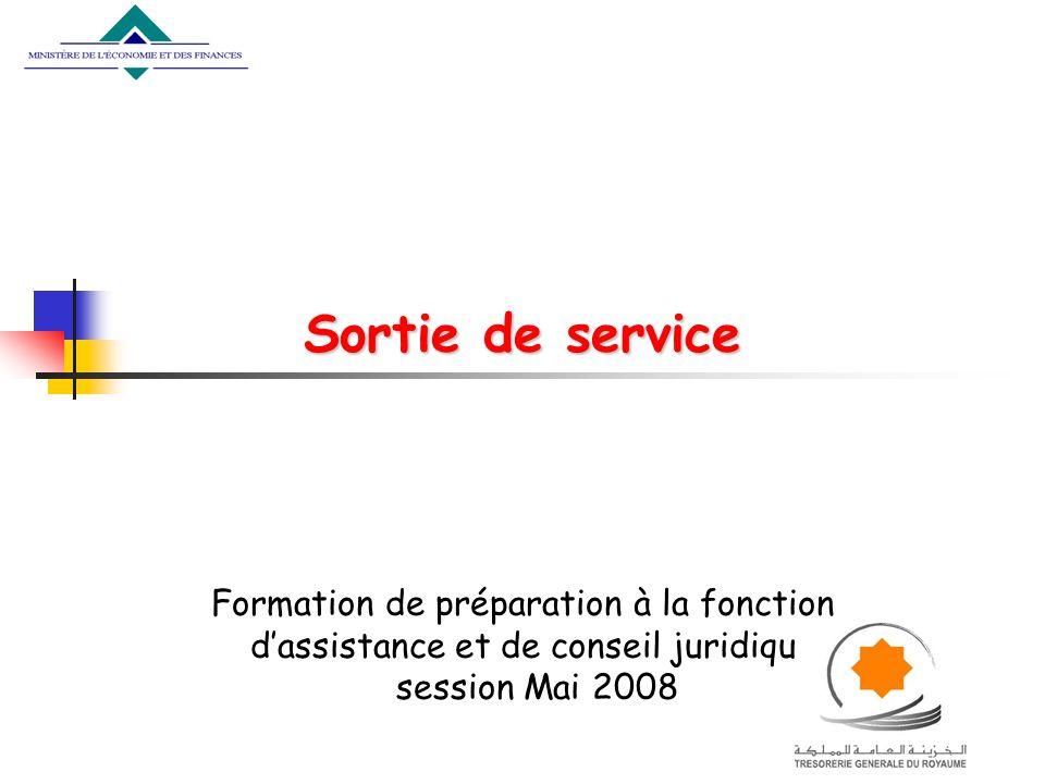 Sortie de service Formation de préparation à la fonction d'assistance et de conseil juridique session Mai 2008.