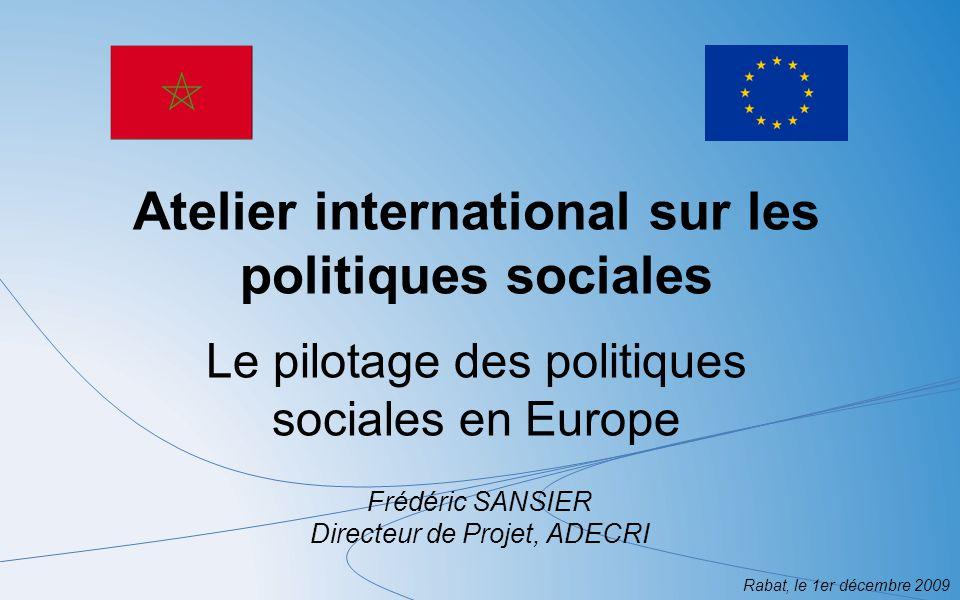 Atelier international sur les politiques sociales