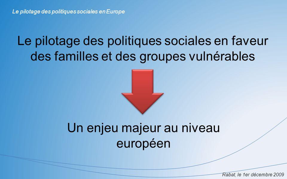 Un enjeu majeur au niveau européen