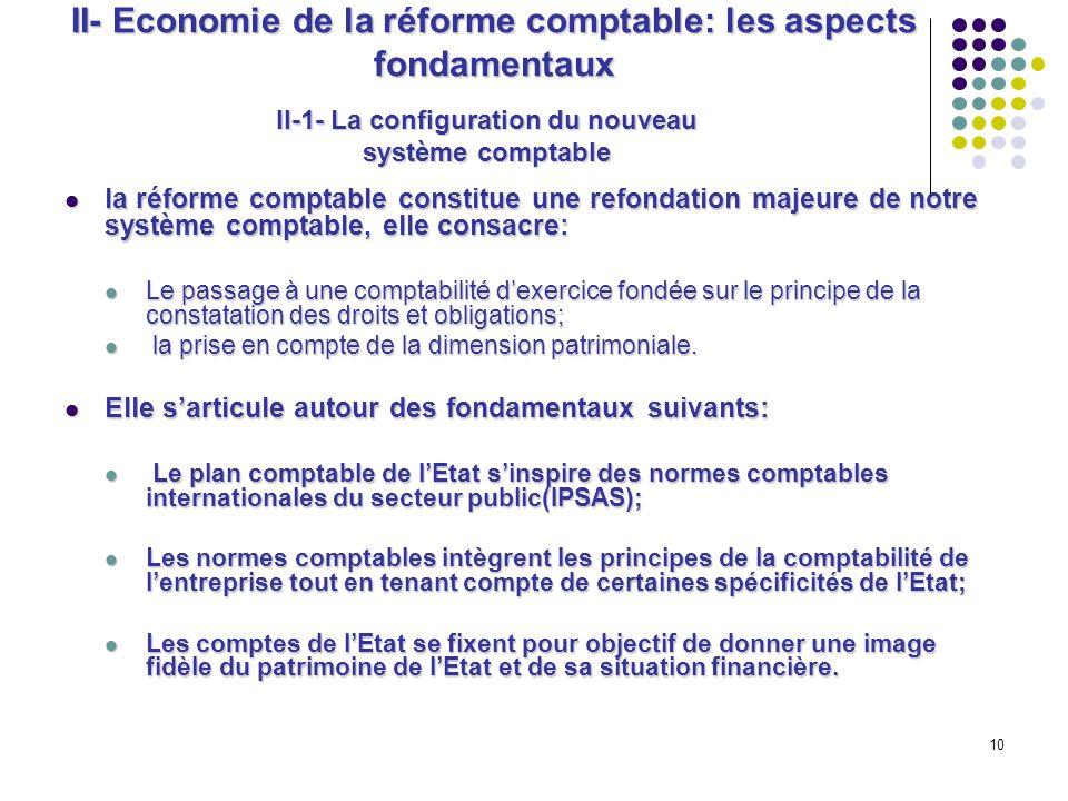 II- Economie de la réforme comptable: les aspects fondamentaux