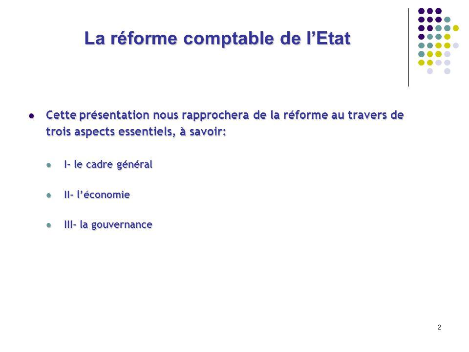 La réforme comptable de l'Etat