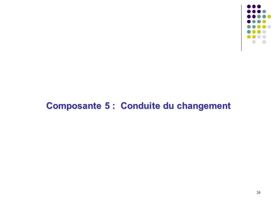 Composante 5 : Conduite du changement