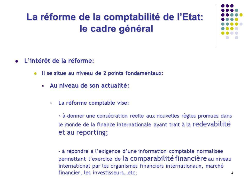 La réforme de la comptabilité de l'Etat: le cadre général