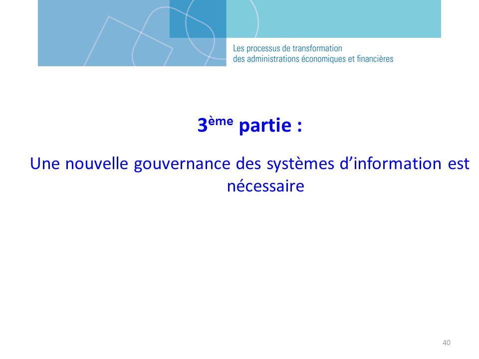 Une nouvelle gouvernance des systèmes d'information est nécessaire