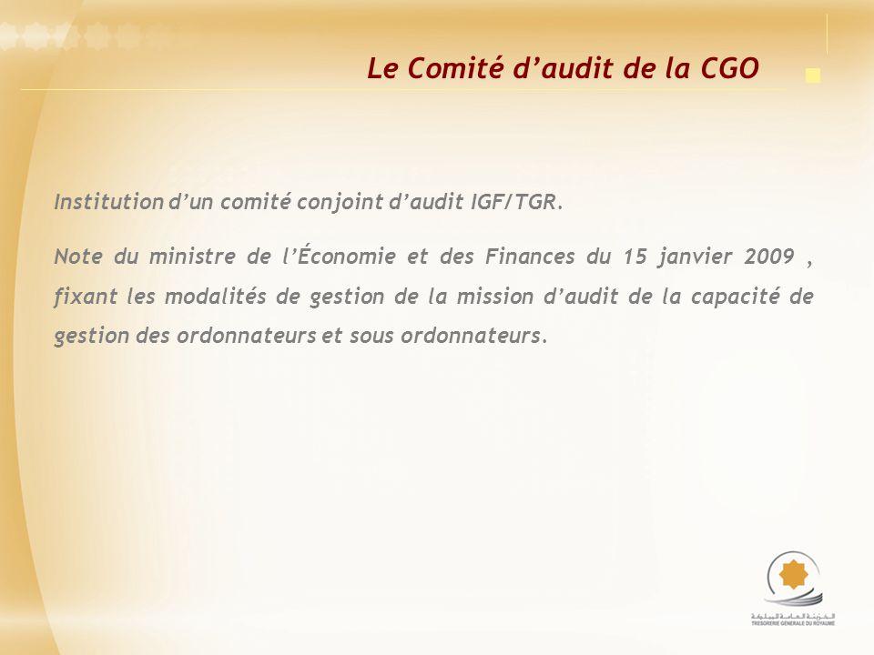 Le Comité d'audit de la CGO