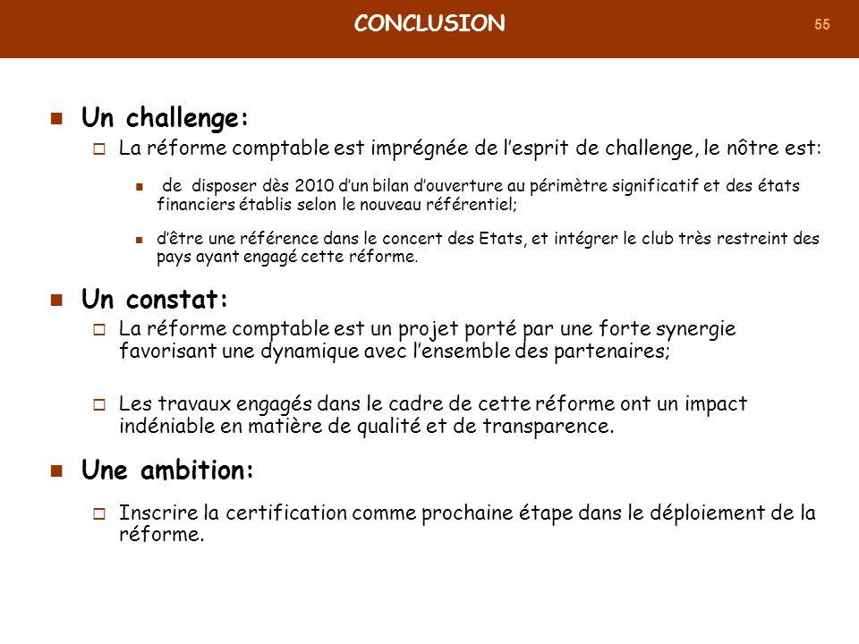 Un challenge: Un constat: Une ambition: Conclusion