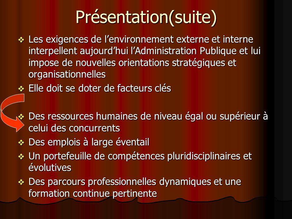 Présentation(suite)