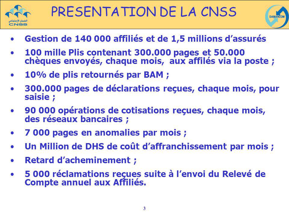 PRESENTATION DE LA CNSS