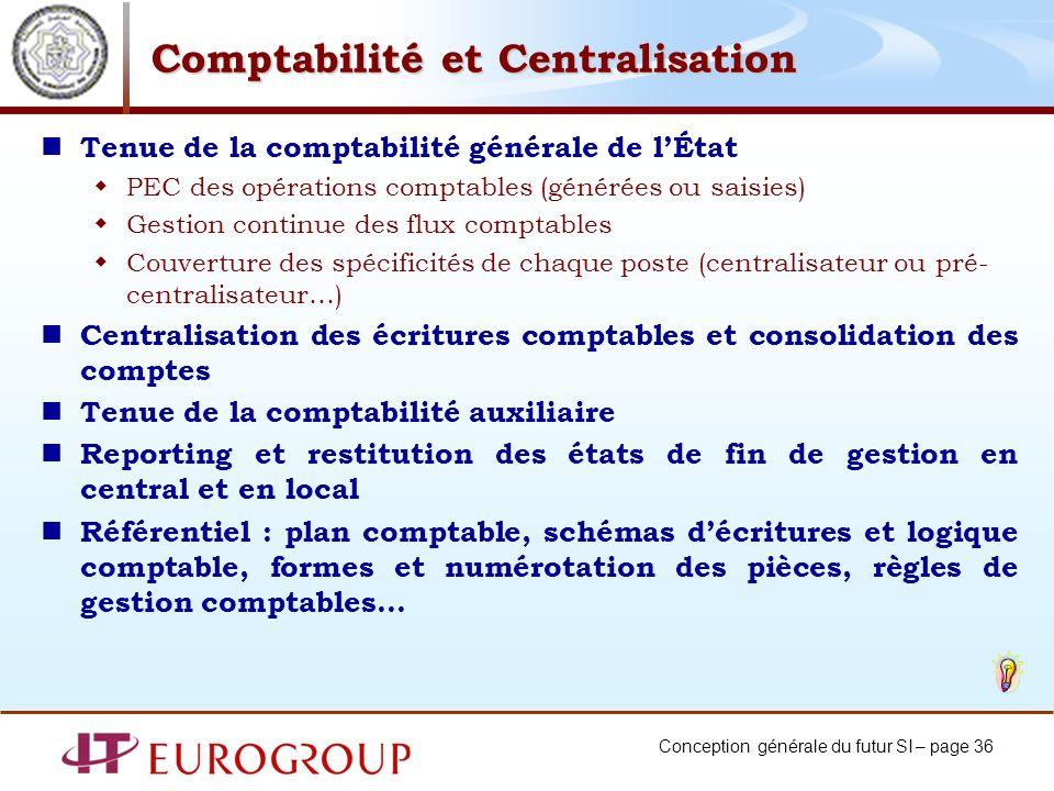 Comptabilité et Centralisation