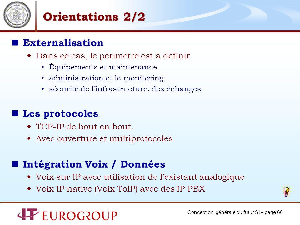 Orientations 2/2 Externalisation Les protocoles