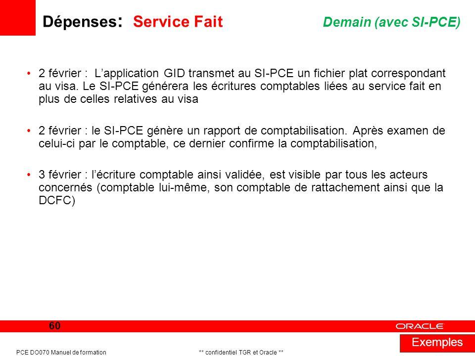 Dépenses: Service Fait Demain (avec SI-PCE)