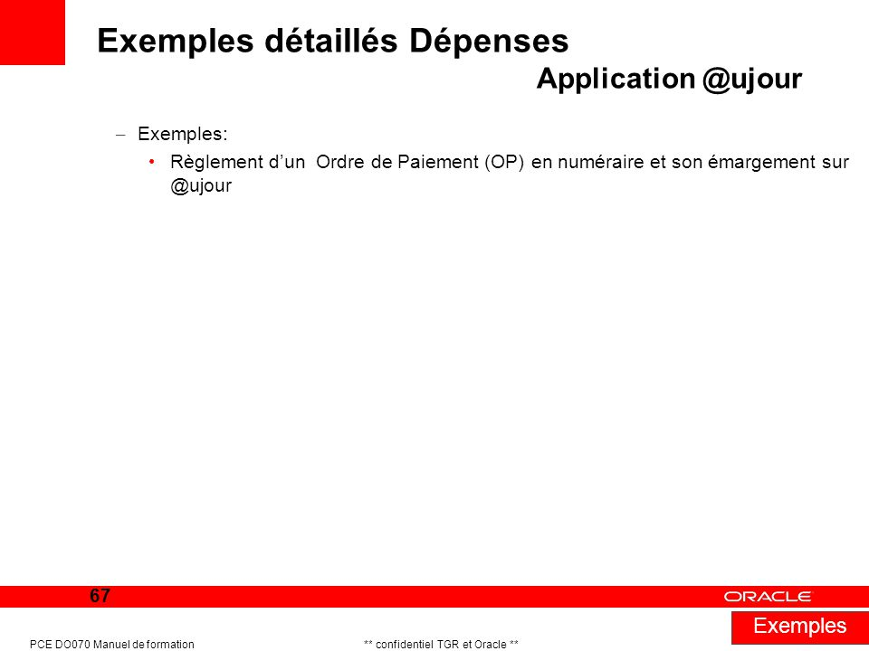 Exemples détaillés Dépenses Application @ujour