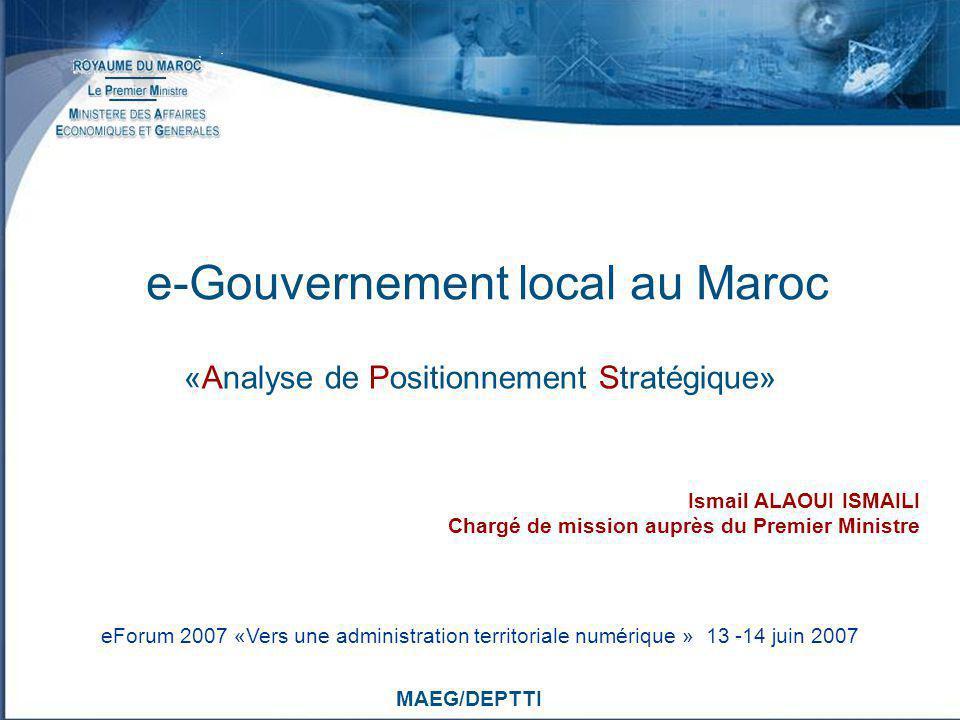 e-Gouvernement local au Maroc