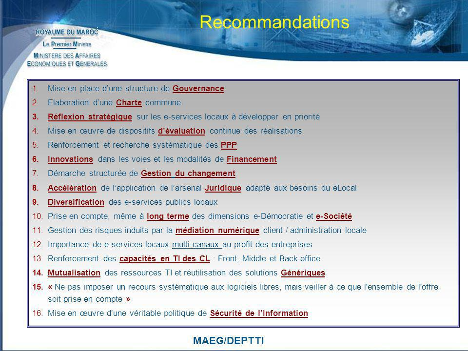 Recommandations MAEG/DEPTTI