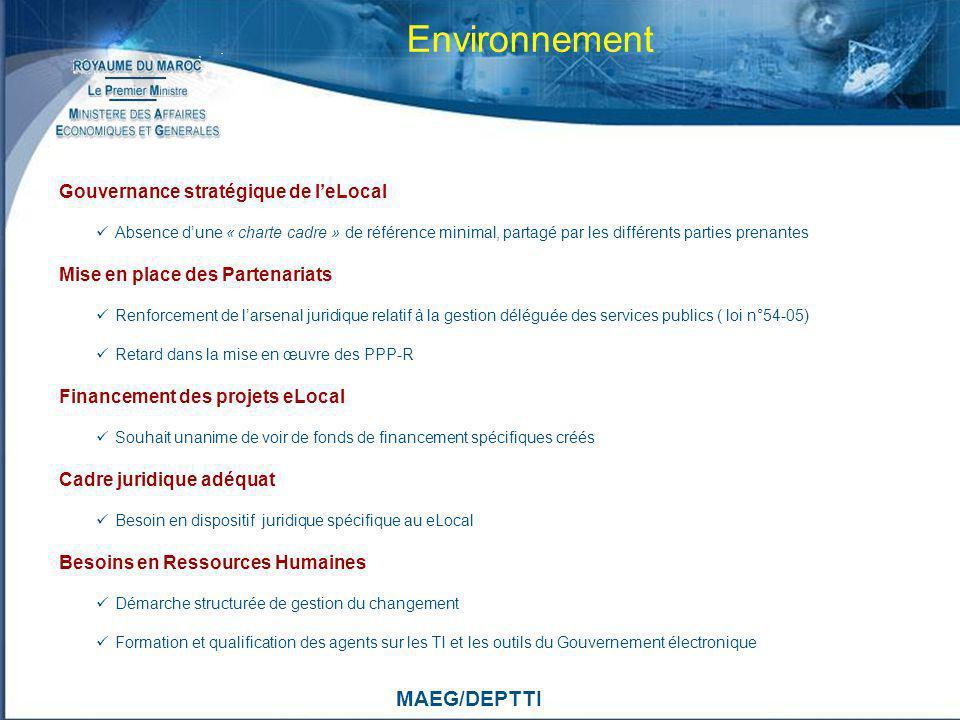 Environnement MAEG/DEPTTI Gouvernance stratégique de l'eLocal